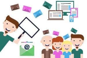 Infographie personnes recevant des emails
