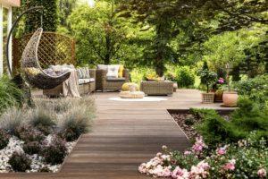 terrasse en bois aménagée
