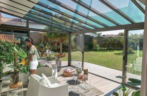 plantes dans une veranda
